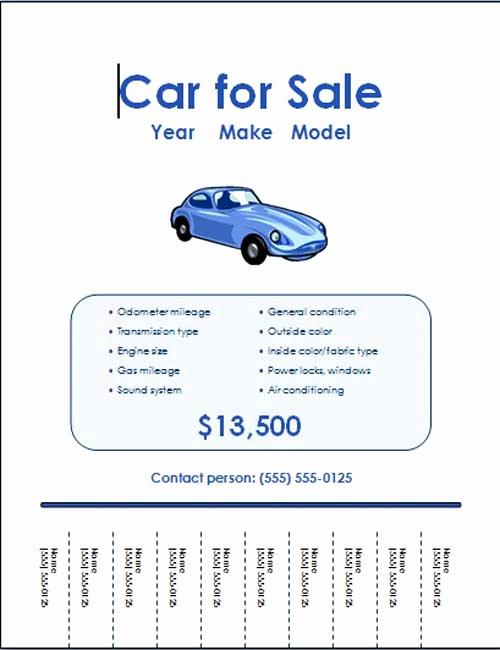 Car for Sale Template Unique 5 Free Car for Sale Flyer Templates Excel Pdf formats