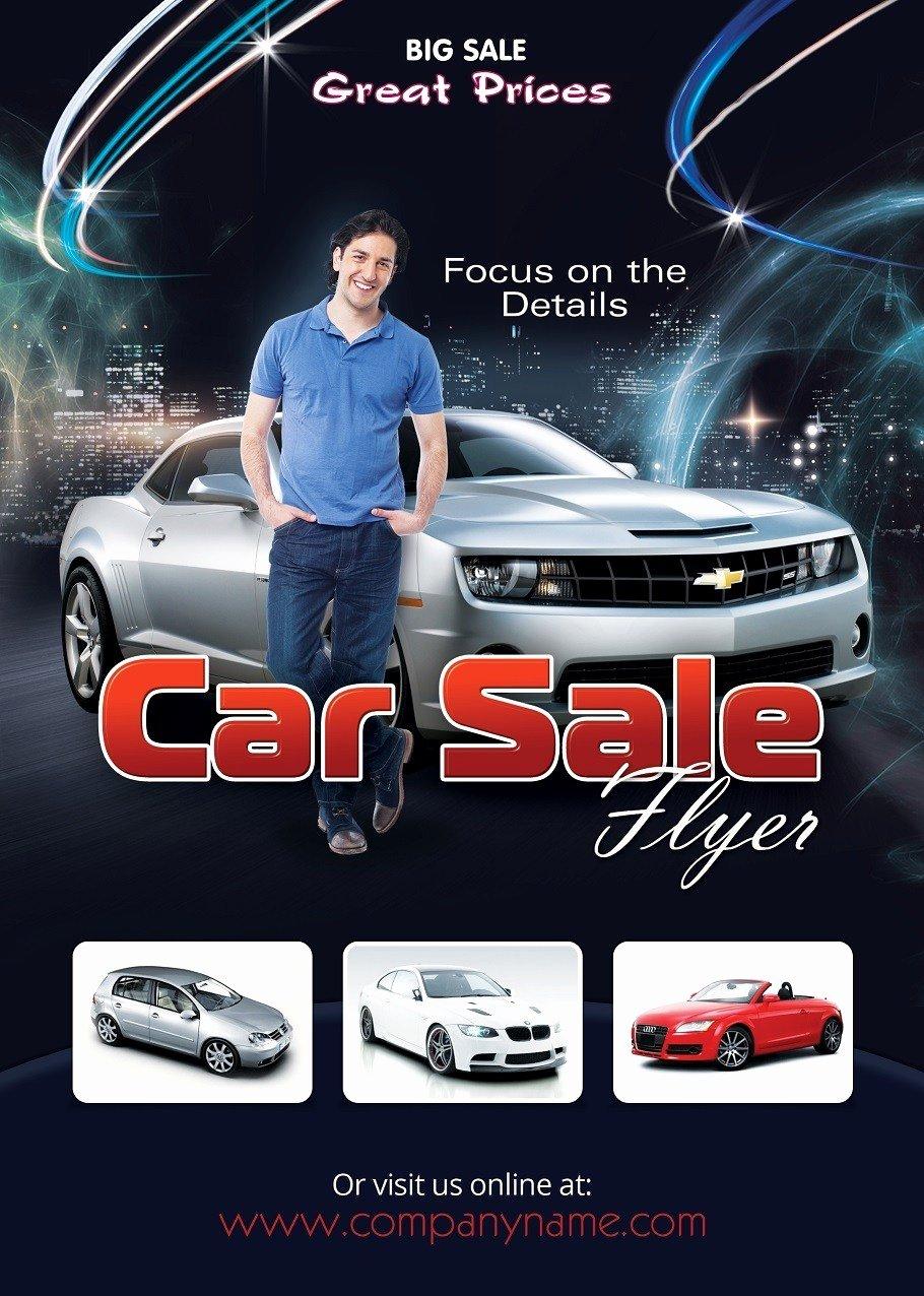 Car for Sale Template Unique Car Sales Flyer Template Shop Version Free Flyer