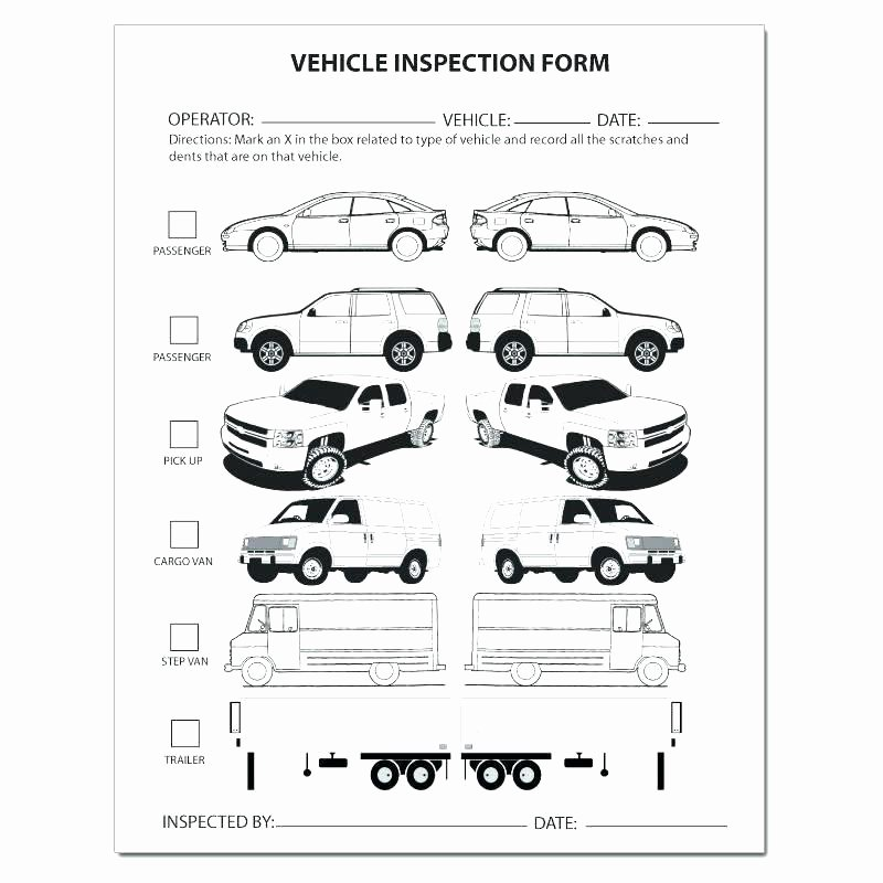 Car Inspection Checklist Template Lovely Gallery Best Vehicle Damage Report Template
