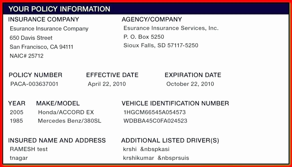 esurance insurance card template seven things to avoid in esurance insurance card template 2115