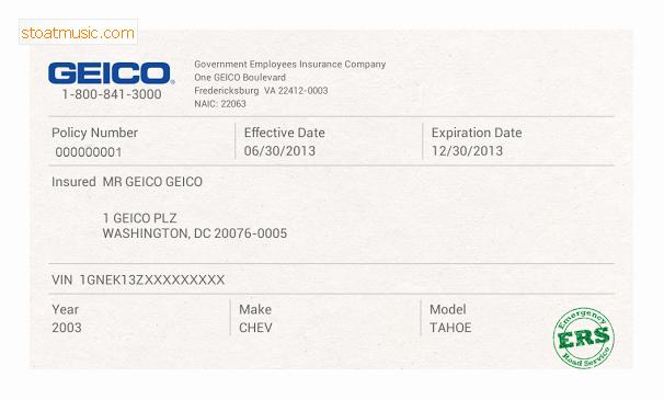 Car Insurance Card Template Elegant Geico Insurance Template This Story Behind Geico Insurance