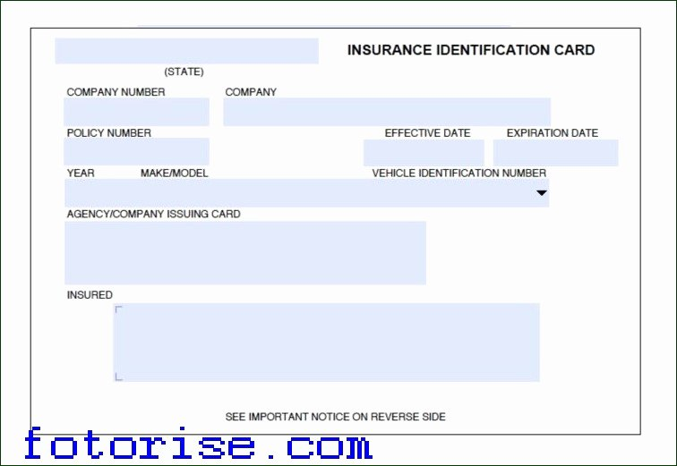 Car Insurance Card Template Lovely Insurance Card Template Free Understanding the Background
