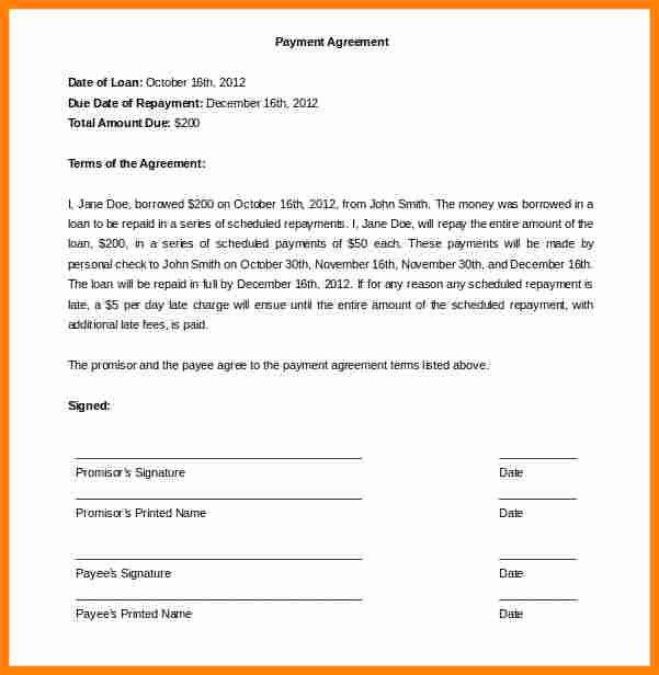 Car Payment Agreement Template Awesome 10 Take Over Car Payment Agreement form