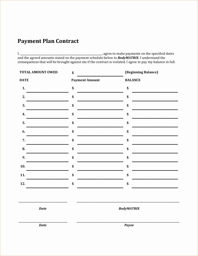 Car Payment Agreement Template Best Of Car Payment Plan Agreement Template