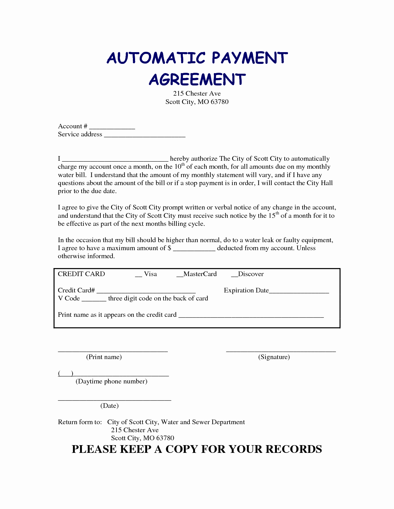 Car Payment Agreement Template Elegant 13 Best Of Agreement to Pay for Services Medical