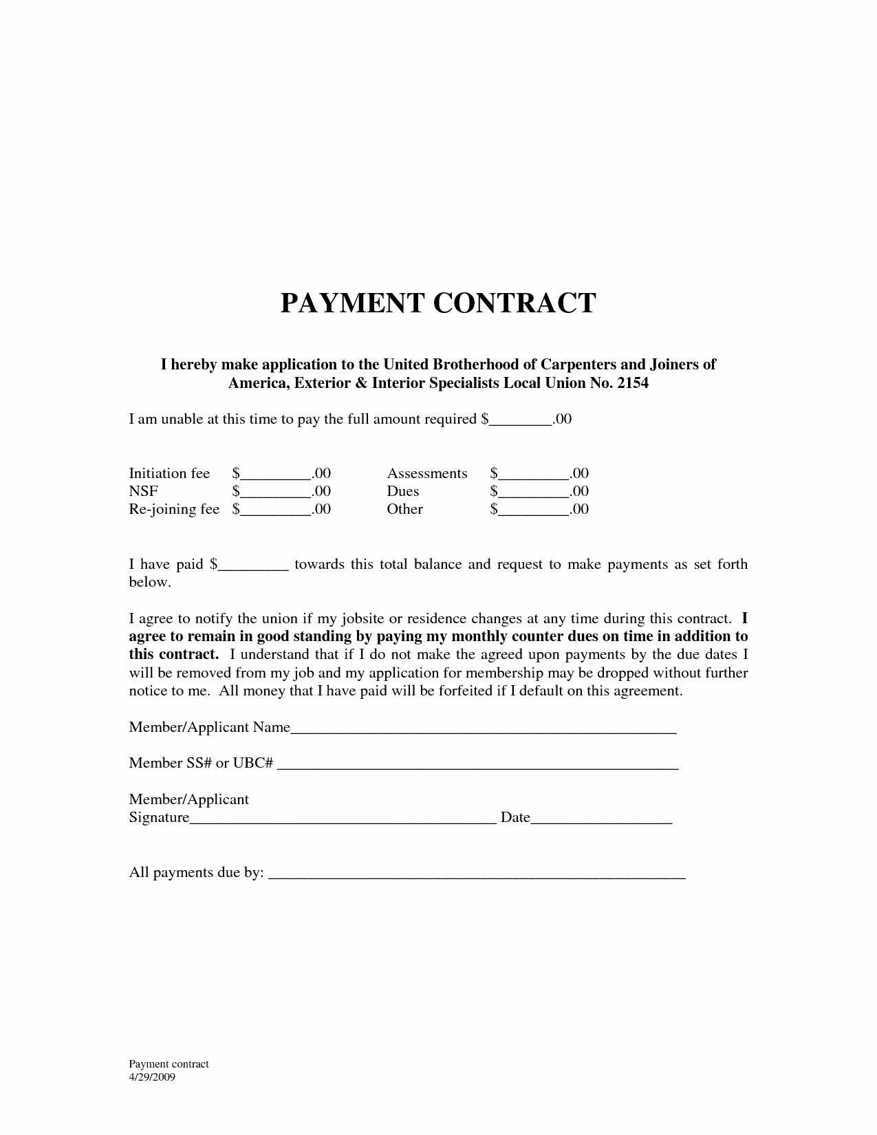 Car Payment Agreement Template Fresh 10 Best Of Payment Agreement Template Sample