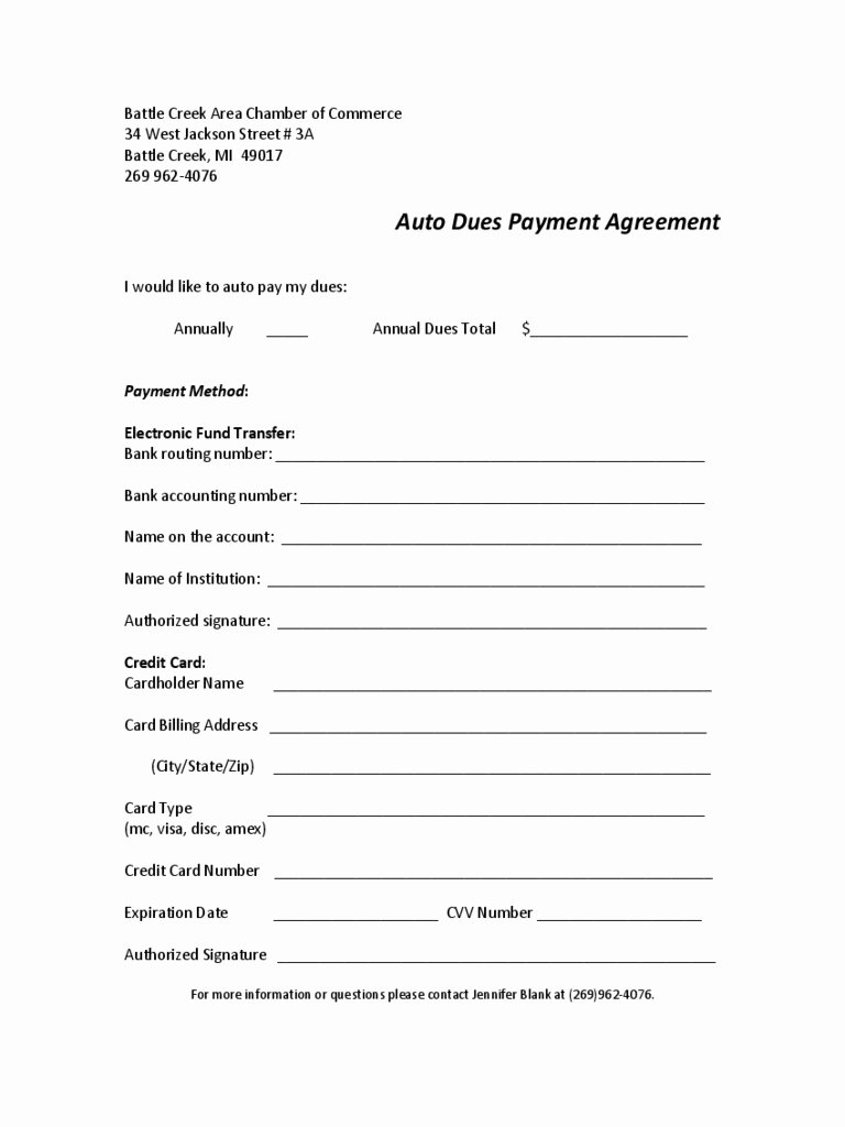 Car Payment Agreement Template Inspirational Payment Agreement Contract Pdf Quick Car Payment Agreement