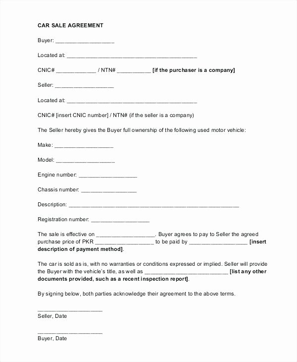 Car Payment Contract Template Elegant Vehicle Payment Agreement Template – Haydenmedia