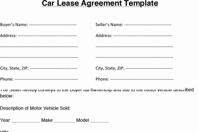 Car Rental Agreement Template Awesome Download Car Lease Agreement for Free Tidytemplates