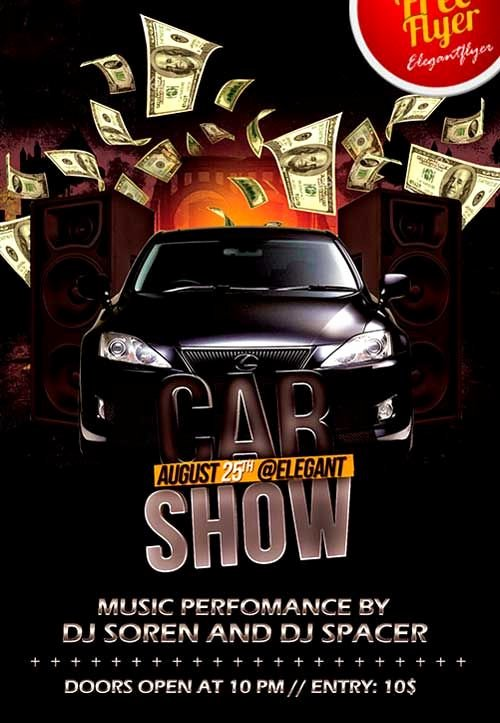 Car Show Flyer Template Beautiful Free Car Show Party Psd Flyer Template… Psd