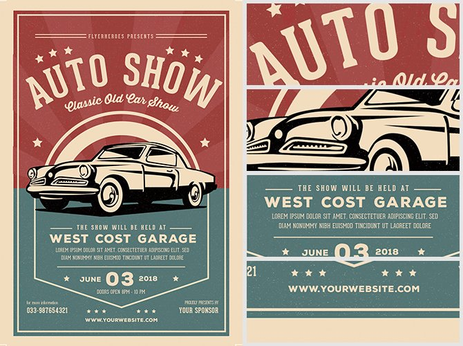 Car Show Flyer Template Best Of Old Classic Car Show Flyer Template Flyerheroes