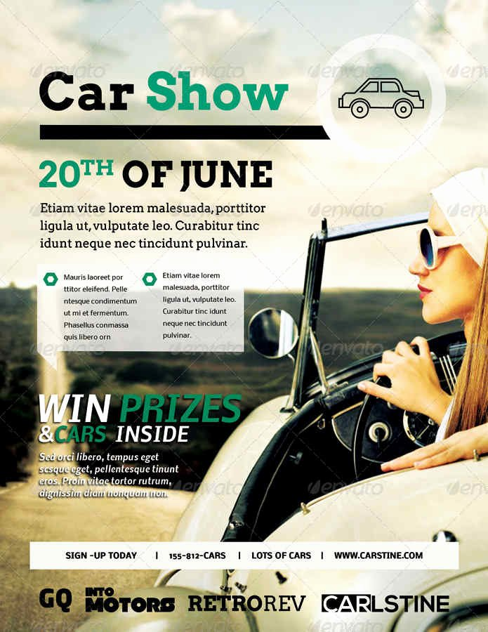 Car Show Flyer Template Elegant 16 Car Show Flyer Templates Free Psd Word Samples