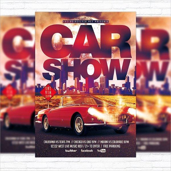 Car Show Flyer Template Inspirational 21 Car Show Flyer Templates