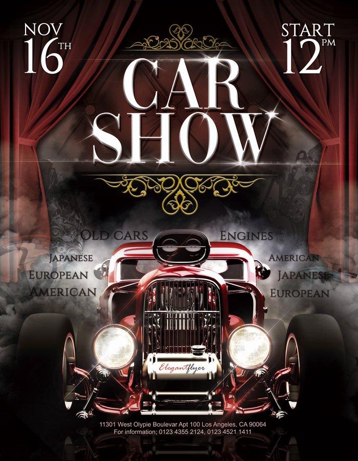 Car Show Flyer Template Lovely Car Show – Free Flyer Psd Template – by Elegantflyer