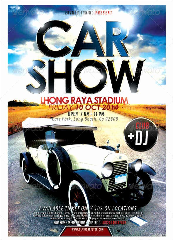 Car Show Flyer Template New 16 Car Show Flyer Templates Free Psd Word Samples