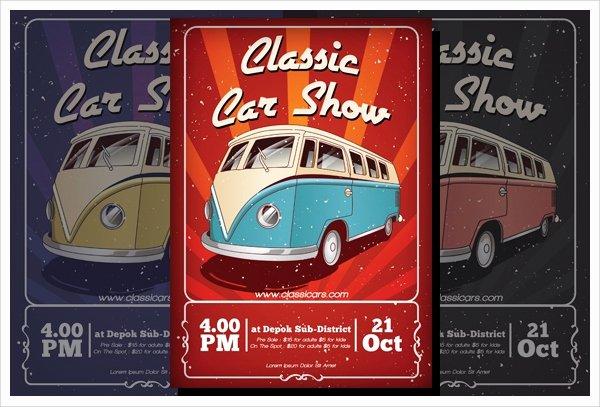Car Show Flyer Template New 21 Car Show Flyer Templates