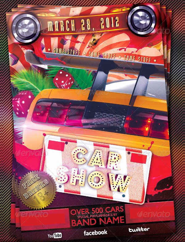 Car Show Flyer Template New 25 Car Show Flyer Templates Free & Premium Download