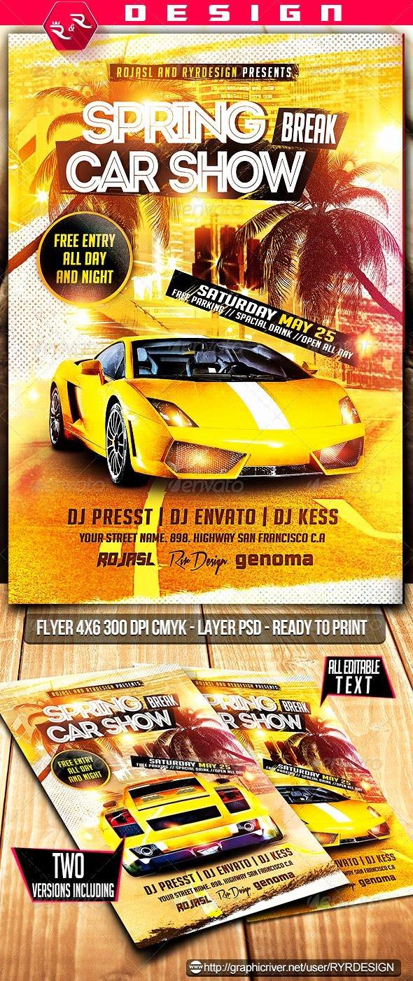 Car Show Flyer Template Unique 9 Best Car Show Flyer Images On Pinterest