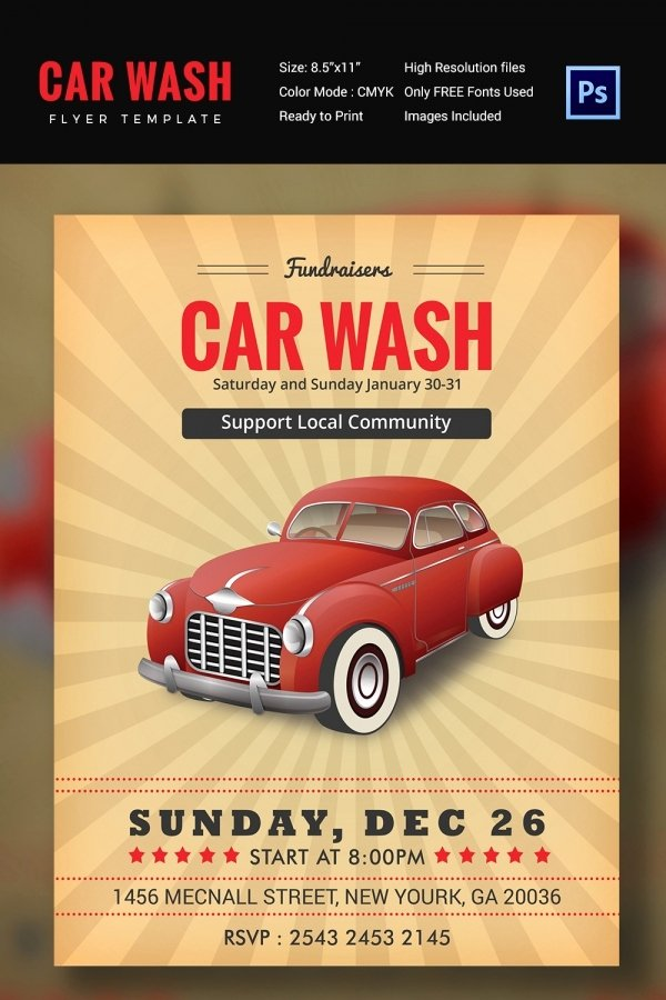 Car Wash Flyer Template Beautiful Car Wash Flyer 48 Free Psd Eps Indesign format