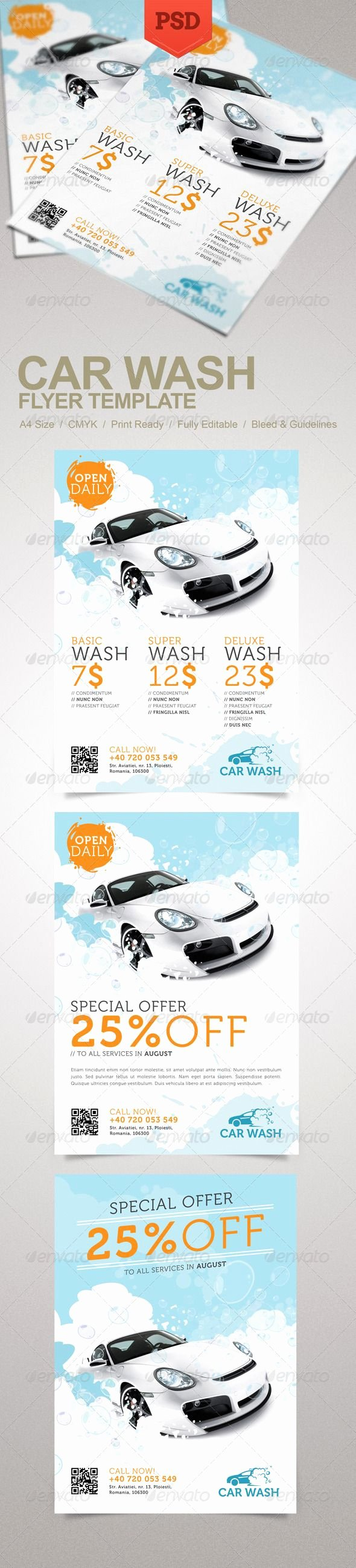 Car Wash Flyer Template Beautiful Car Wash Flyer