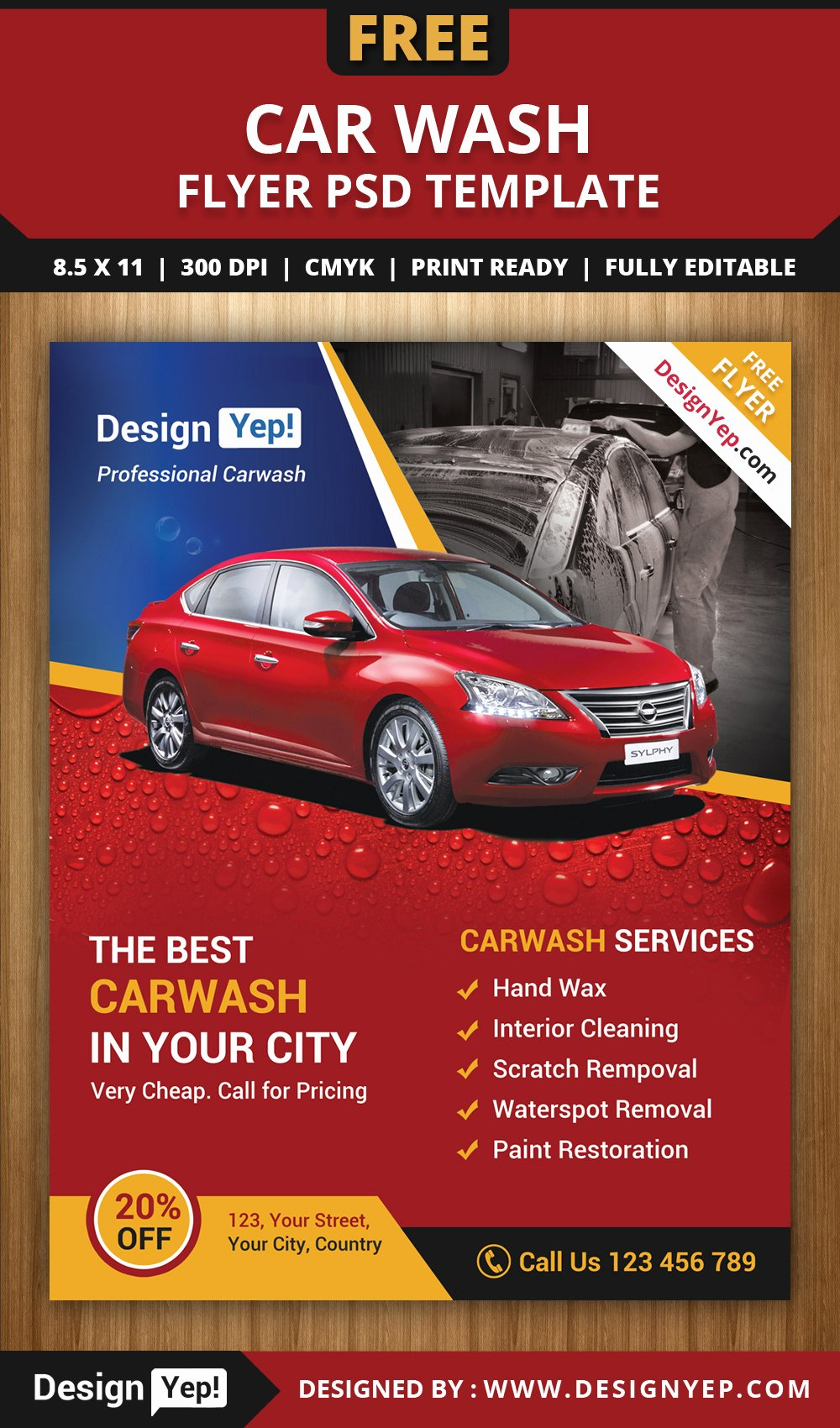 Car Wash Flyer Template Beautiful Free Car Wash Flyer Psd Template Designyep