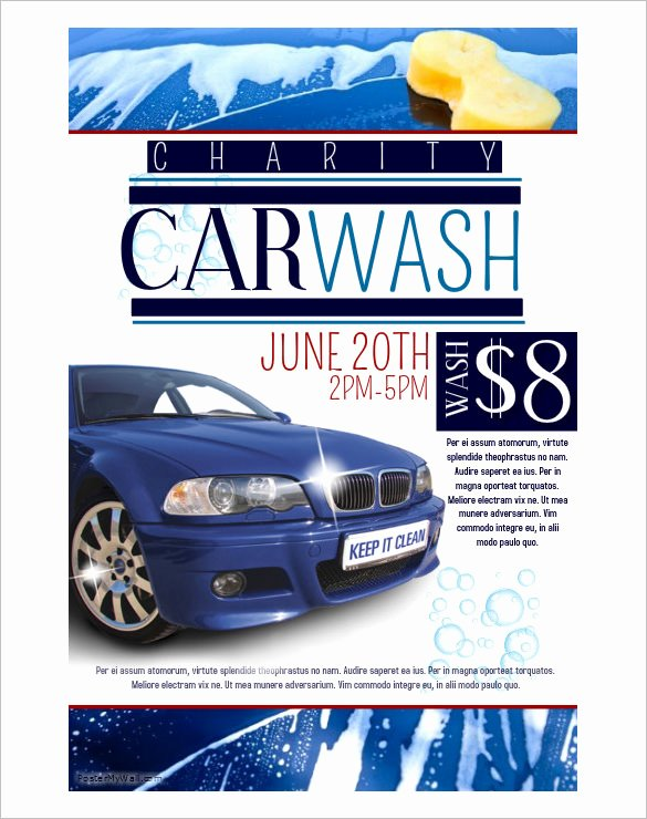 Car Wash Flyer Template Best Of 36 Fundraiser Flyer Templates Psd Eps Ai Word