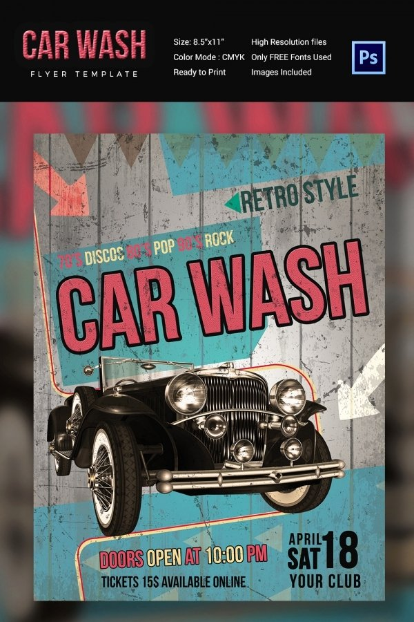 Car Wash Flyer Template Best Of Car Wash Flyer 48 Free Psd Eps Indesign format