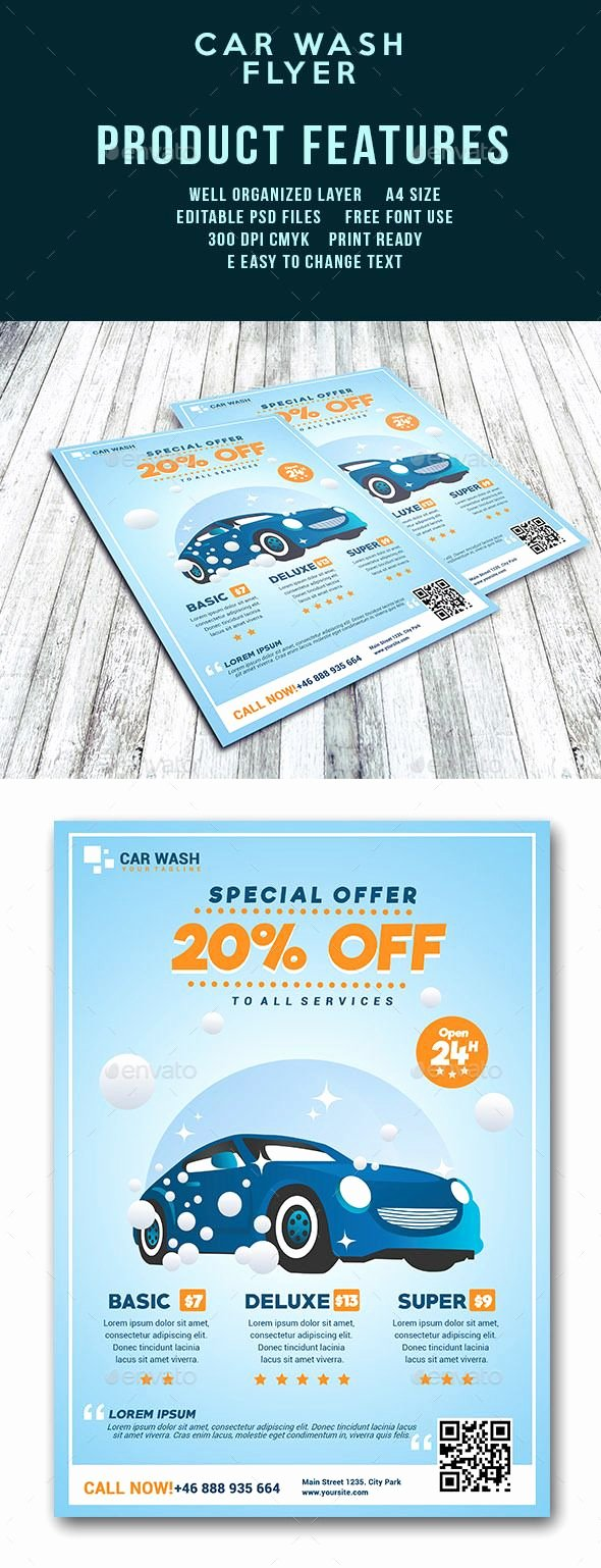 Car Wash Flyer Template Best Of Car Wash Flyer Template