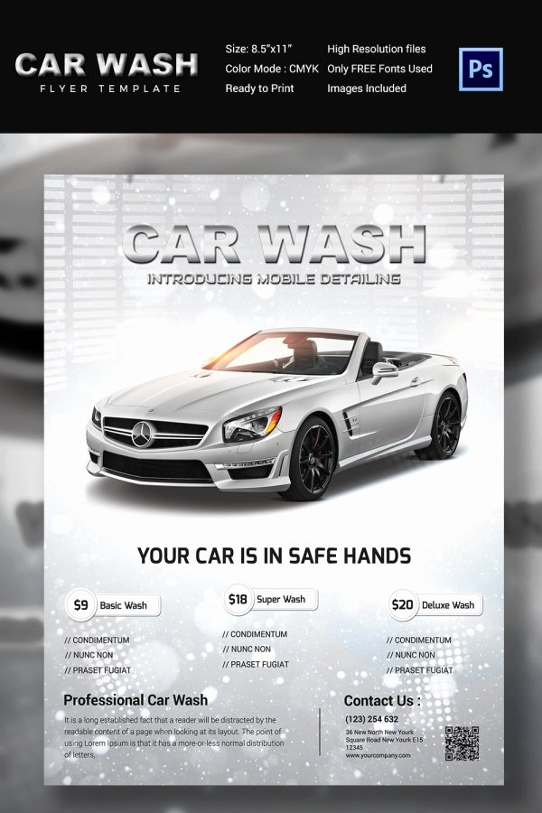 Car Wash Flyer Template Fresh Car Wash Flyer 48 Free Psd Eps Indesign format
