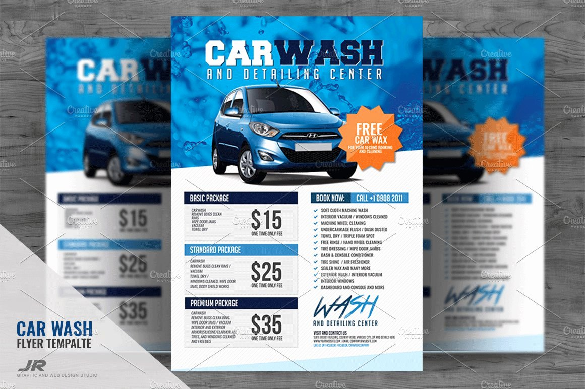 Car Wash Flyer Template Inspirational Car Wash Flyer Flyer Templates Creative Market
