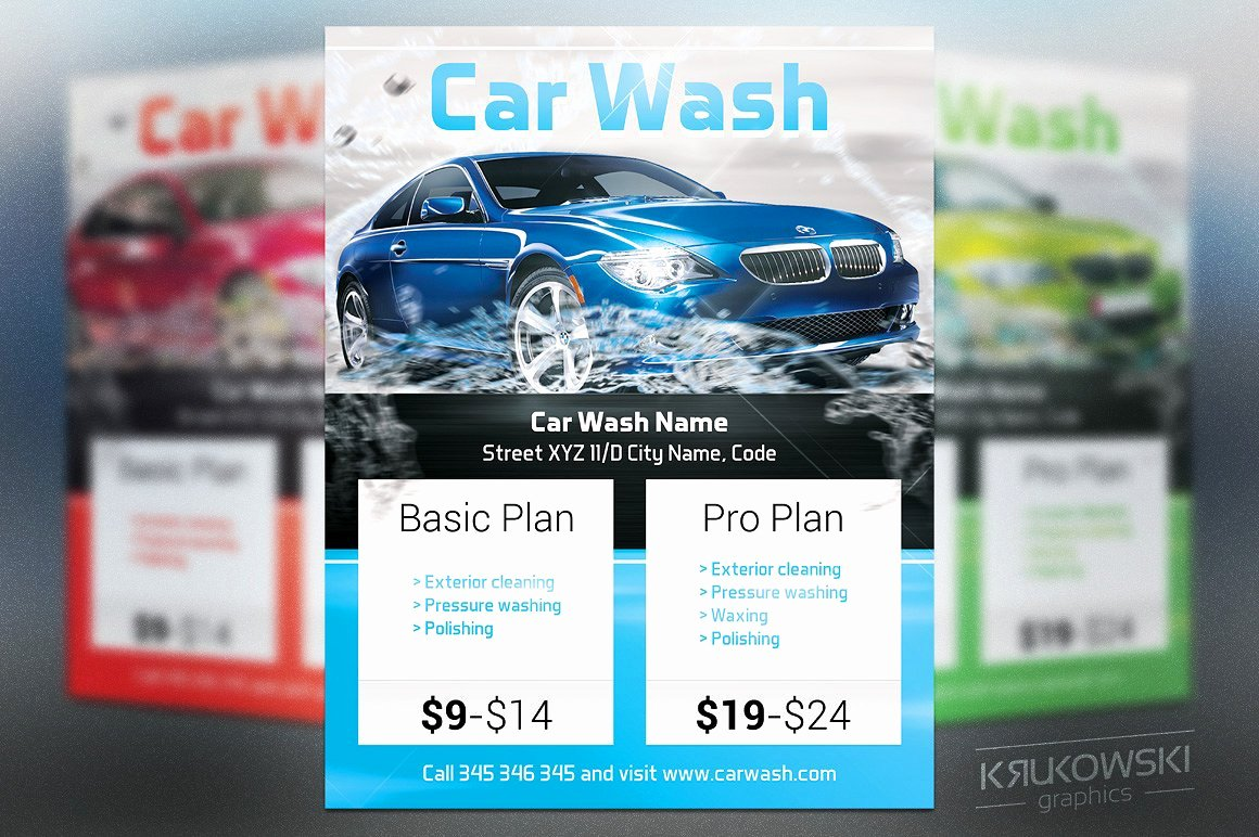 Car Wash Flyer Template Inspirational Car Wash Flyer Template Flyer Templates Creative Market