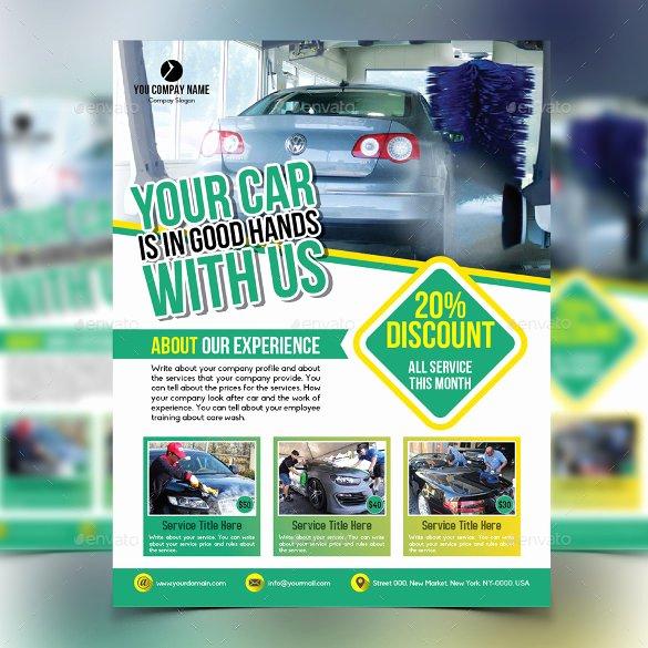 Car Wash Flyer Template Inspirational Car Wash Flyers – 40 Free Psd Eps Indesign format