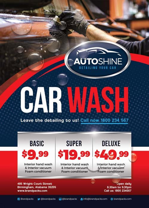 Car Wash Flyer Template Inspirational Free Car Wash Business Flyer Template Download for Shop