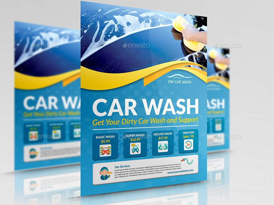 Car Wash Flyer Template Luxury Car Wash Services Flyer Templates by Ow
