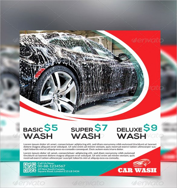 Car Wash Flyer Template New 25 Car Wash Flyers