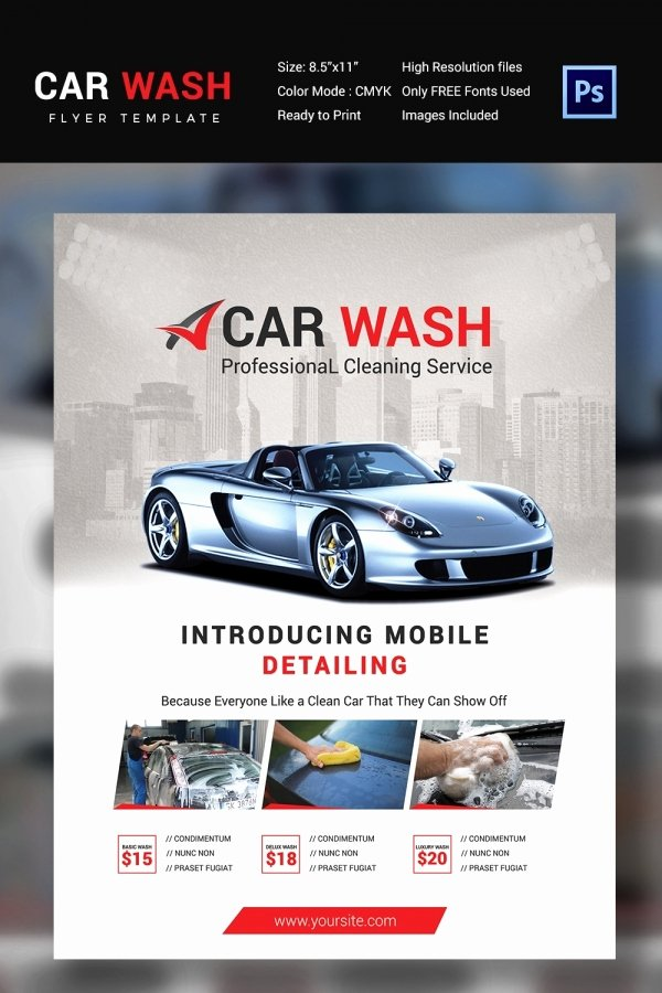 Car Wash Flyer Template New Car Wash Flyer 48 Free Psd Eps Indesign format