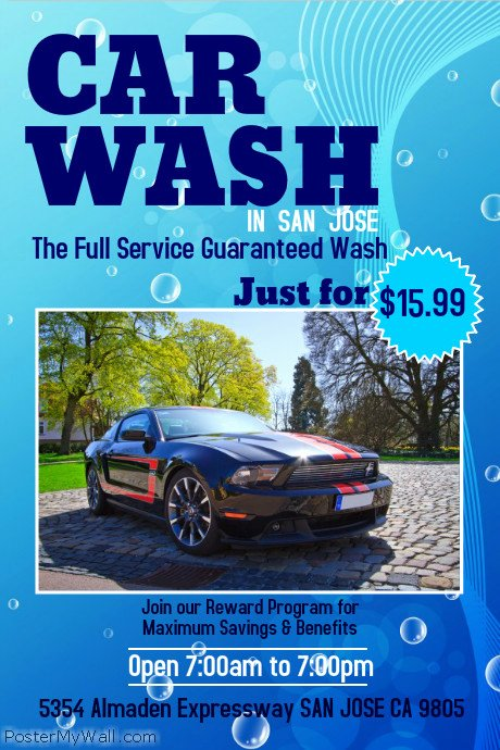 Car Wash Flyer Template Unique Car Wash Poster Template