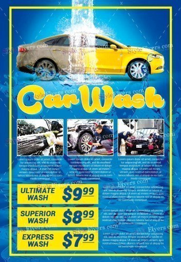 Car Wash Flyers Template Awesome Car Wash Psd Flyer Template Styleflyers