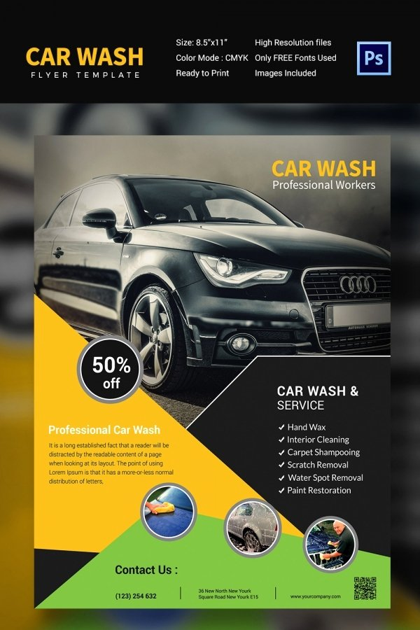Car Wash Flyers Template Inspirational Car Wash Flyer 48 Free Psd Eps Indesign format
