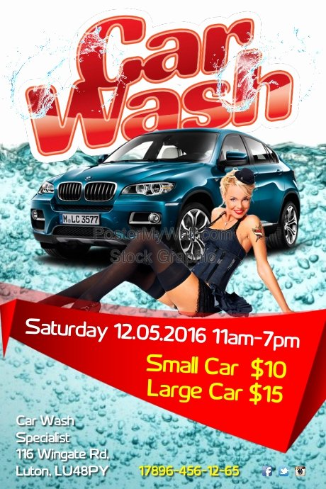 Car Wash Flyers Template Lovely Carwash Flyer Template