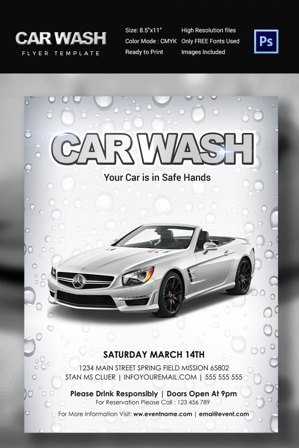 Car Wash Flyers Template Luxury Car Wash Flyer 48 Free Psd Eps Indesign format