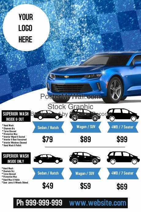 Car Wash Flyers Template Luxury Car Wash Flyer Poster Template