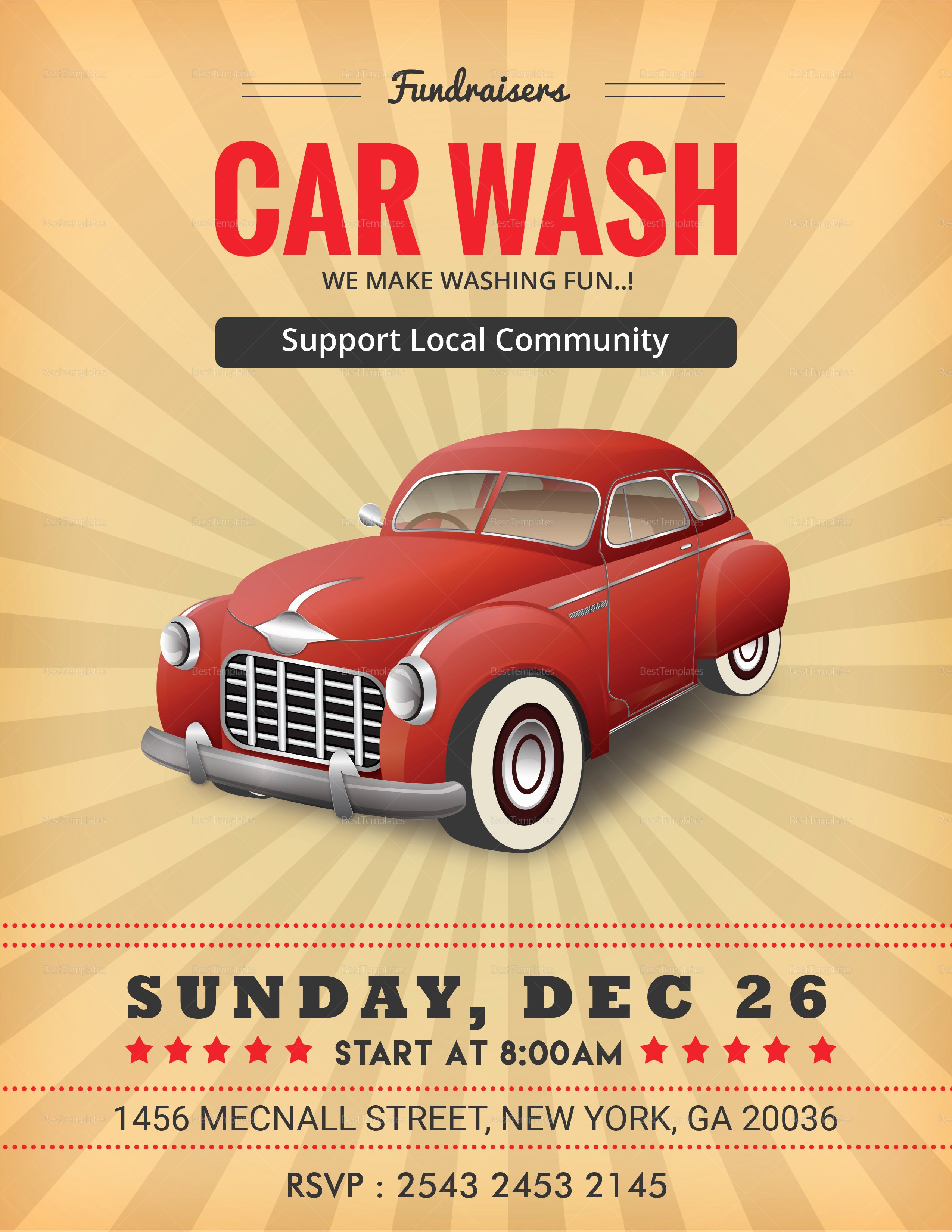 Car Wash Flyers Template Luxury Fundraiser Car Wash Flyer Design Template In Word Psd