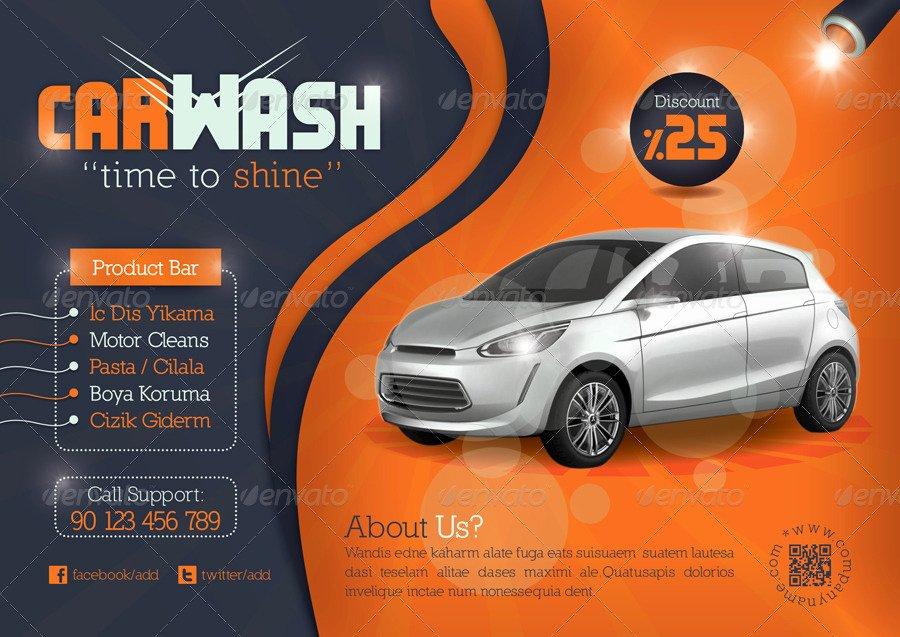 Car Wash Flyers Template Unique 16 Car Wash Flyer Designs & Examples – Psd Ai