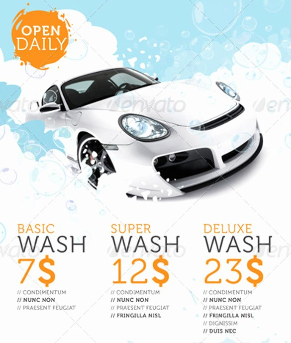 Car Wash Flyers Template Unique Car Wash Flyers – 40 Free Psd Eps Indesign format