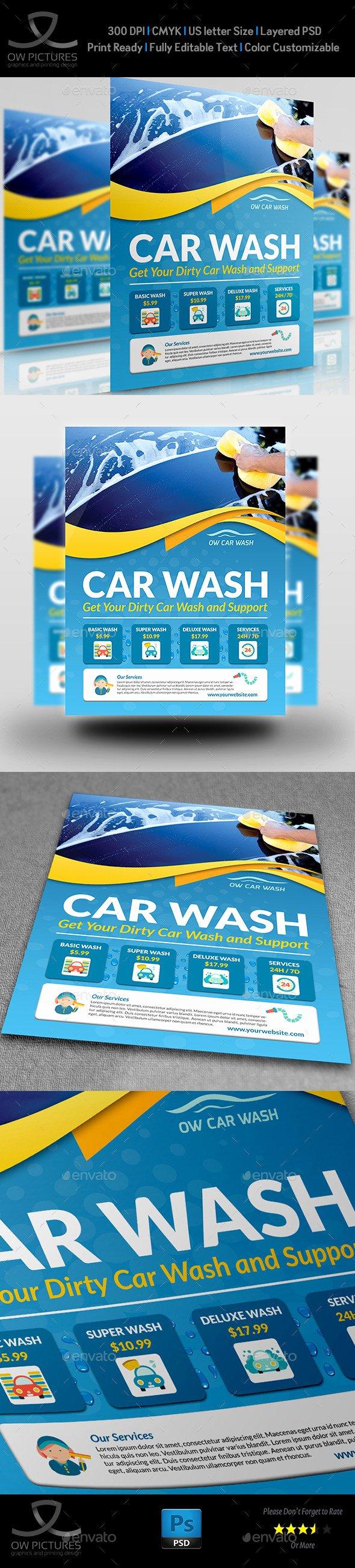 Car Wash Flyers Template Unique Car Wash Services Flyer Templates Brochure