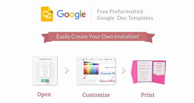 Card Template Google Docs Awesome Cards and Pockets Free Google Invitation Templates