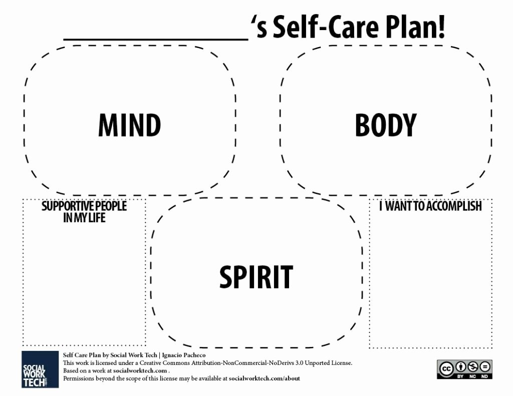 Care Plan Template Pdf Fresh A Self Care Plan Template for Pdf Version