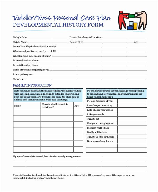 Care Plan Template Pdf New Personal Care Plan Templates 12 Free Pdf format