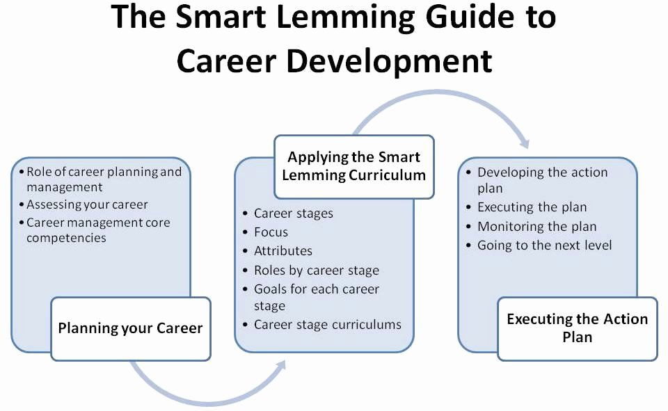Career Action Plan Template Awesome Smart Lemming Guide to Career Development